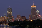 Charles River Photo Prints - Boston Prudential Center In Bruins Yellow Print by Juergen Roth