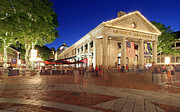 Landscape Format Framed Prints - Boston Quincy Market near Faneuil Hall Framed Print by Juergen Roth