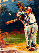 World Series Paintings - Boston Red Sox Beard Mike Napoli by Derek Russell