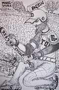 Boston Red Sox Drawings - Boston Red Sox by Timothy  Foley