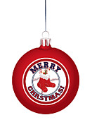 Boston Red Sox Posters - Boston Red Stockings Christmas Ornament Poster by Nathanael Verrill