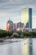 Charles River Art - Boston Skyline II by Clarence Holmes