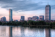 Charles River Art - Boston Skyline III by Clarence Holmes