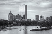 Charles River Art - Boston Skyline IV by Clarence Holmes