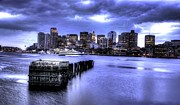 River.etc. Prints - Boston Skyline Print by Khalid Siddiqui