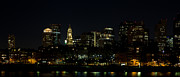 Boston Ma Digital Art Posters - Boston Skyline on an Autumn Night Poster by John Hoey