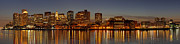 New England Acrylic Prints - Boston Skyline Panorama by Juergen Roth