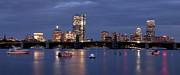 Joann Vitali - Boston Skyline Panoramic - Blue Nights
