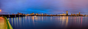 Longfellow Prints - Boston Skyline Panoramic Print by Josh Whalen