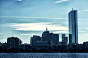 Boston Digital Art Metal Prints - Boston Skyline Metal Print by Tricia Marchlik