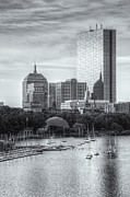 Charles River Art - Boston Skyline V by Clarence Holmes