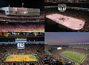 Hockey Framed Prints - Boston Sports Teams and Fans Framed Print by Juergen Roth
