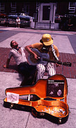 Boston Street Performer Print by Thomas D McManus