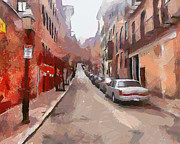 Live Art Digital Art Prints - Boston Streets 1 Print by Yury Malkov