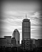 Boston Digital Art Metal Prints - Boston Strong Black and White Metal Print by Tricia Marchlik
