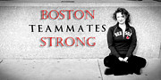 Red Sox Art Photo Metal Prints - Boston Strong Metal Print by Greg Fortier