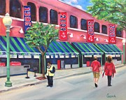 Boston Red Sox  Paintings - Boston Strong Inspired by Sharon Clossick
