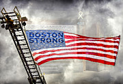 Boston Digital Art Metal Prints - Boston Strong Metal Print by Penny Pesaturo
