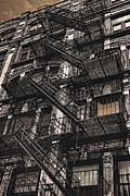Tenements Prints - Boston Tenement Print by Joann Vitali