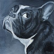Boston Paintings - Boston Terrier Painting by Melissa Bain