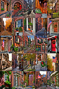 Autumn Scenes Metal Prints - Boston Tourism Collage Metal Print by Joann Vitali