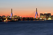 New England Acrylic Prints - Boston Zakim Bridge  by Juergen Roth