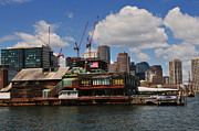 Boston Ma Prints - Bostons Changing Waterfront Print by Mike Martin