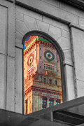 Faneuil Hall Posters - Bostons Custom House Poster by Joann Vitali