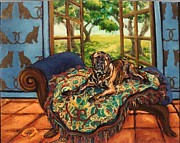 Mastif Framed Prints - Boswell Framed Print by Christine Lytwynczuk