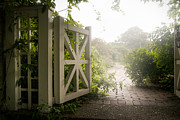 Gary Heller Art - Botanical - Garden Gate - Mystic garden by Gary Heller