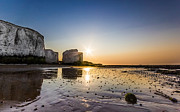 Chalk Cliffs Art - Botany Bay Sunset by Ian Hufton