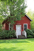 Red School House Metal Prints - Bothell WA  One Room Schoolhouse  Metal Print by Marv Russell