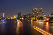 Fototrav Print - Bots and Bangkok skyline