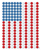 Bottle Cap Digital Art Posters - Bottle Cap Flag Poster by Gary Grayson