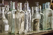 Antique Collectables Posters - Bottle Collection Poster by Heather Applegate