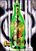 Stopper Prints - Bottle Print by Daniel Janda