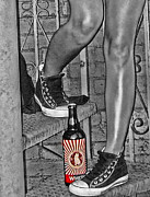 Converse Digital Art - Bottle In Color by Kristie  Bonnewell