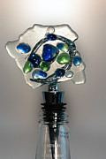 Olive  Glass Art - Bottle Stopper 01 by Crush Creations