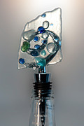 Holiday Glass Art - Bottle Stopper 03 by Crush Creations