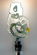 Birthday Glass Art - Bottle Stopper 08 by Crush Creations