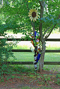 Glass Bottles Prints - Bottle Tree Print by Suzanne Gaff