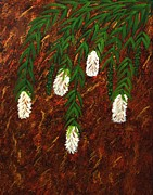 Tree Blossoms Paintings - Bottlebrush Tree by Barbara Griffin