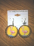 Bottle Jewelry - Bottlecap Earrings For Sale by Art by Kids  For Kids