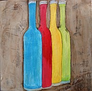 Kithcen Prints - Bottled Delight Print by Lillie Minnifield