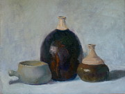 Jugs Prints - Bottles Print by Elizabeth B Tucker
