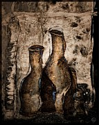 Bottles Digital Art - Bottles by Gun Legler