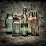 Ball Jars Posters - Bottles II Poster by Timothy Bischoff