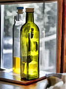 Cruet Framed Prints - Bottles in the Window Framed Print by Ted Guhl