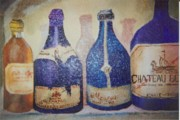 Merlot Prints - Bottles Print by Lorinda Fore