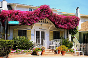 French Doors Metal Prints - Bougainvillea House Metal Print by Cheryl Young